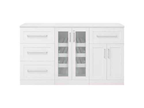 "NewAge Home Bar White 4 Piece Cabinet Set - 21"""