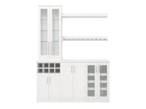 "NewAge Home Bar White 7 Piece Cabinet Set- 21"""