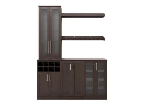 "NewAge Home Bar Espresso 7-Piece Cabinet Set- 21"""