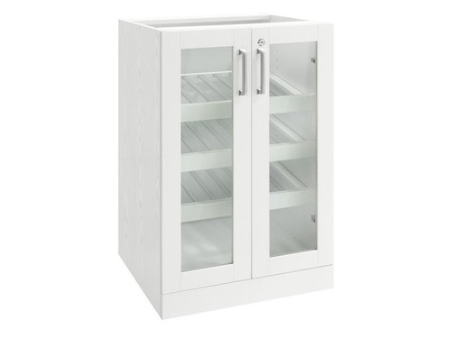 NewAge Home Bar White Display Cabinet - 21