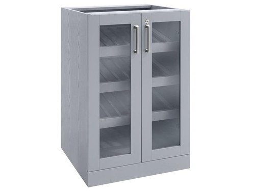 NewAge Home Bar Grey Display Cabinet - 21