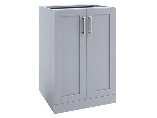 """NewAge Home Bar Grey 2-Door Cabinet - 21"""""""