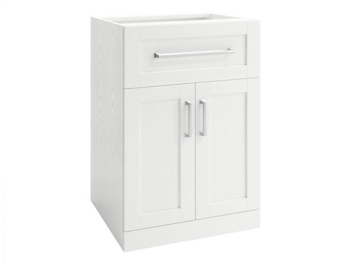 NewAge Home Bar White 2-Door with Drawer Cabinet - 21""