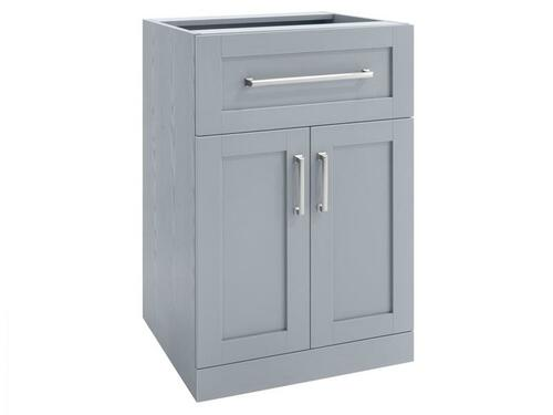 NewAge Home Bar Grey 2-Door with Drawer Cabinet - 21""