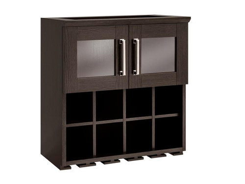 NewAge Home Bar Espresso Wall Wine Rack Cabinet - 21