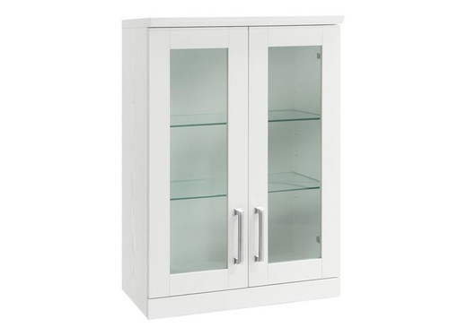 NewAge Home Bar White Short Wall Cabinet - 21