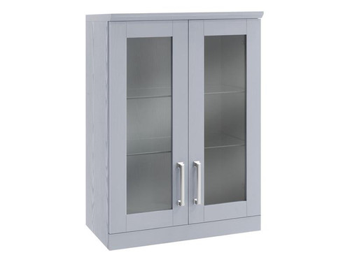 "NewAge Home Bar Grey Short Wall Cabinet - 21"""