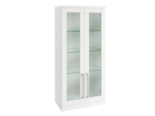 NewAge Home Bar White Tall Wall Cabinet - 21""