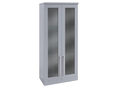 NewAge Home Bar Grey Tall Wall Cabinet - 21""