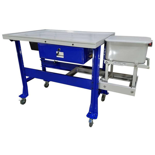 iDEAL Premium Tear Down Table with 3.5 Gallon Parts Washer (1,000 lb Capacity)