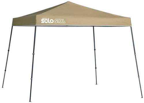 Quick Shade Solo Steel 72 11 x 11 ft. Slant Leg Canopy - Khaki