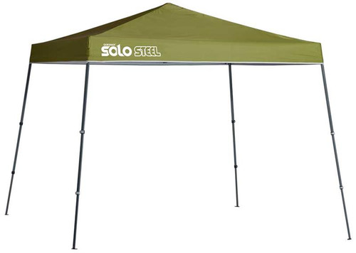Quick Shade Solo Steel 72 11 x 11 ft. Slant Leg Canopy - Olive