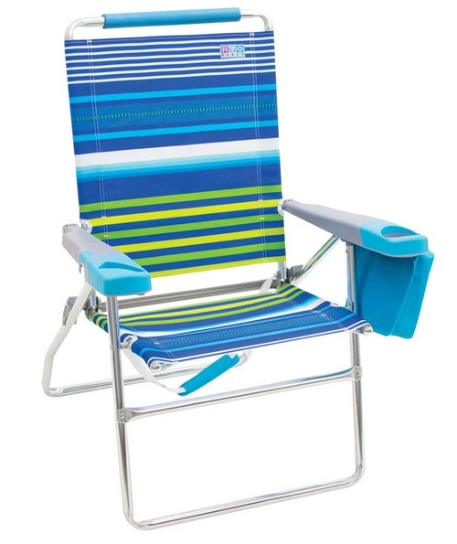 RIO Beach 4-Position 17 inch Tall Beach Chair - Stripe