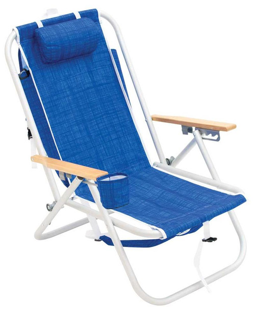 RIO 4-Position Aluminum Backpack Chair - Blue