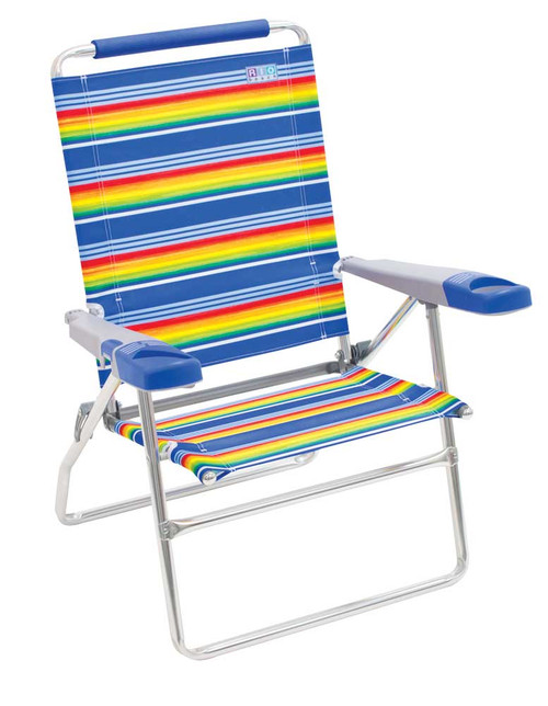 RIO Beach 4-Position 15 inch Tall Beach Chair - Stripe