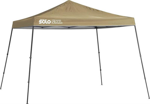 Quik Shade Solo Steel 90 11 x 11 ft. Slant Leg Canopy - Khaki