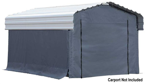 Arrow Carport 10 x 15 ft. Enclosure Kit (Carport sold separately)