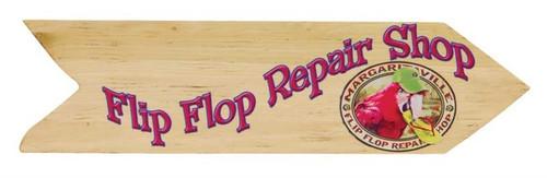 Margaritaville Directional Garden Sign - Flip Flop Repair Shop