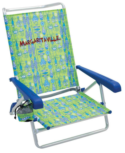 Margaritaville 5-Position Beach Chair - Green Fish