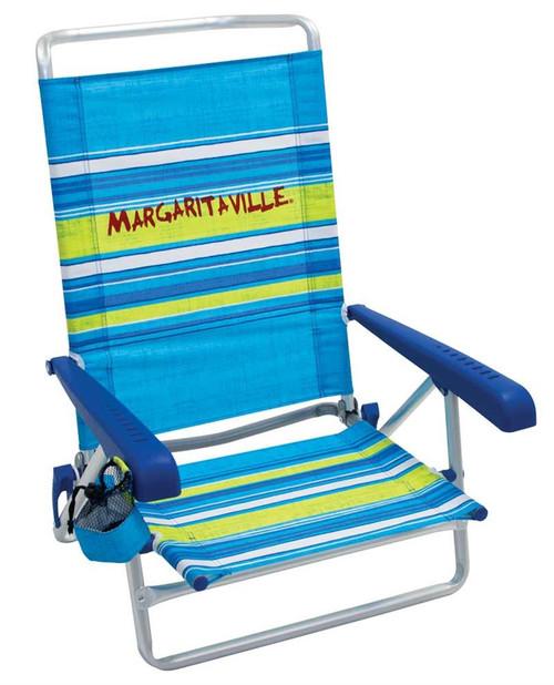 Margaritaville 5-Position Beach Chair - Blue Stripe