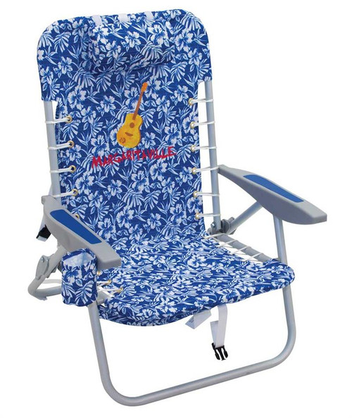 Margaritaville 4-Position Backpack Beach Chair - Blue Floral