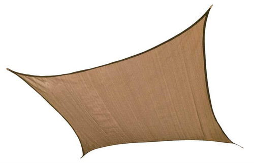 ShelterLogic Shade Sail Square - Heavyweight 12 x 12 ft. Sand