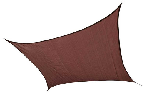 ShelterLogic Shade Sail Square - Heavyweight 16 x 16 ft. Terracotta