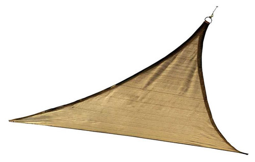 ShelterLogic Shade Sail Triangle - Heavyweight 16 x 16 ft. Sand
