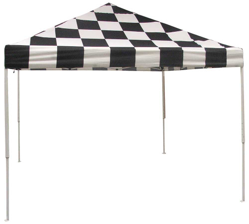 ShelterLogic Pop-Up Canopy HD - Straight Leg 10 x 10 ft. Checkered Flag