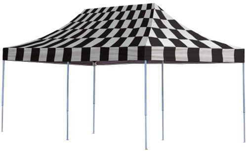 ShelterLogic Pop-Up Canopy HD - Straight Leg 10 x 20 ft. in Checkered Flag