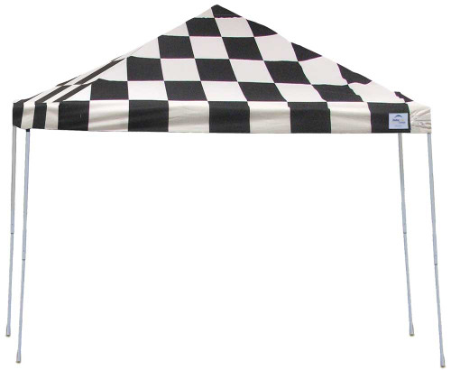 ShelterLogic Pop-Up Canopy HD - Straight Leg 12 x 12 ft. Checkered Flag