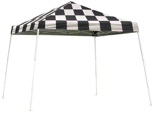 ShelterLogic Pop-Up Canopy HD - Slant Leg 12 x 12 ft. Checkered Flag