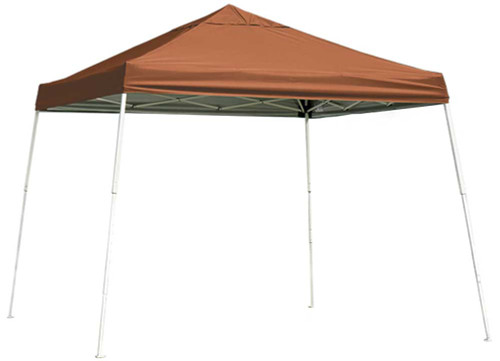 ShelterLogic Pop-Up Canopy HD - Slant Leg 12 x 12 ft. Terracotta