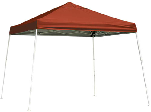 ShelterLogic Pop-Up Canopy HD - Slant Leg 10 x 10 ft. Red