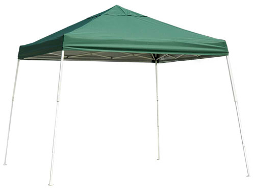 ShelterLogic Pop-Up Canopy HD - Slant Leg 10 x 10 ft. Green