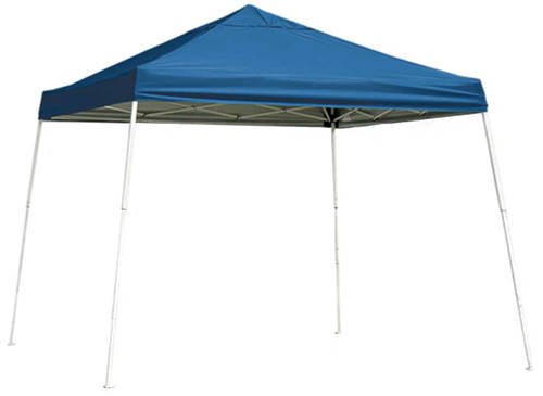 ShelterLogic Pop-Up Canopy HD - Slant Leg 10 x 10 ft. Blue