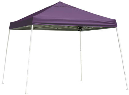 ShelterLogic Pop-Up Canopy HD - Slant Leg 10 x 10 ft. Purple