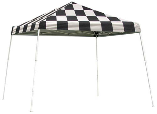 ShelterLogic Pop-Up Canopy HD - Slant Leg 10 x 10 ft. Checkered Flag