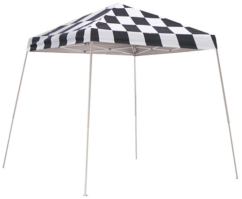 ShelterLogic Pop-Up Canopy HD - Slant Leg 8 x 8 ft. Checkered Flag