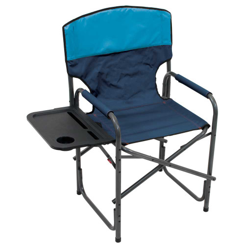 RIO Gear Broadback Compact Fold Directors Chair - Blue Sky/Navy