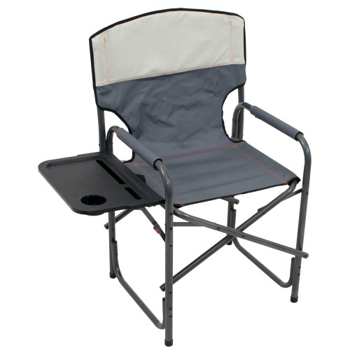 RIO Gear Broadback Compact Fold Directors Chair - Slate/Putty