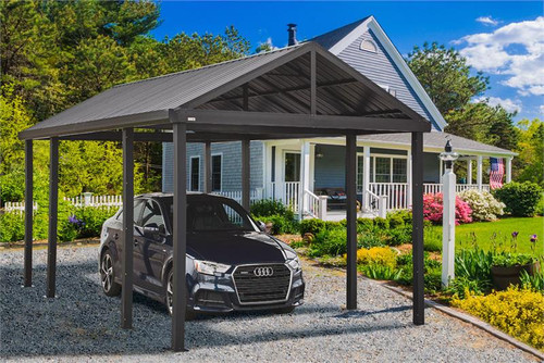 Sojag Samara 12 x 20 x 10 ft. Dark Grey Carport