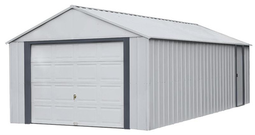 Arrow Murryhill 12 x 24 Garage, Steel Storage Building, Prefab Storage Shed/Flute Gray