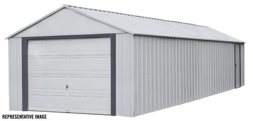 Arrow Murryhill 14 x 31 Garage, Steel Storage Building, Prefab Storage Shed/Flute Gray