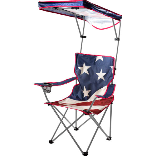 Quik Chair U.S. Flag Shade Folding Chair