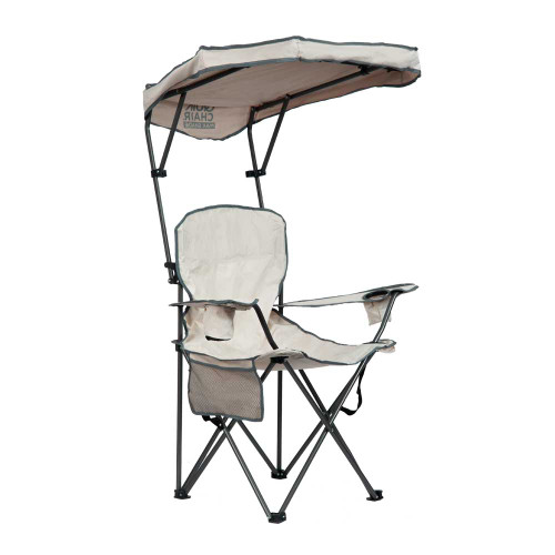 Quik Shade Max Shade Folding Chair - Khaki/Gray