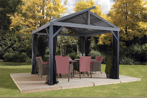 Sojag South Beach II 12x12 Hardtop Gazebo with Mosquito Netting