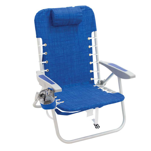 RIO Gear 4-Position Lace-Up Backpack Chair - Blue