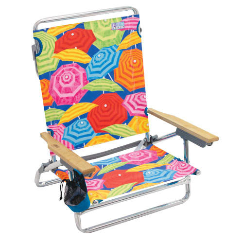 RIO Beach Classic 5-Position Lay-Flat Beach Chair - Umbrella Print