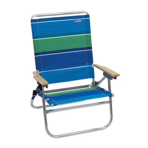 RIO Beach 4-Position Easy In-Easy Out Beach Chair - Stripe